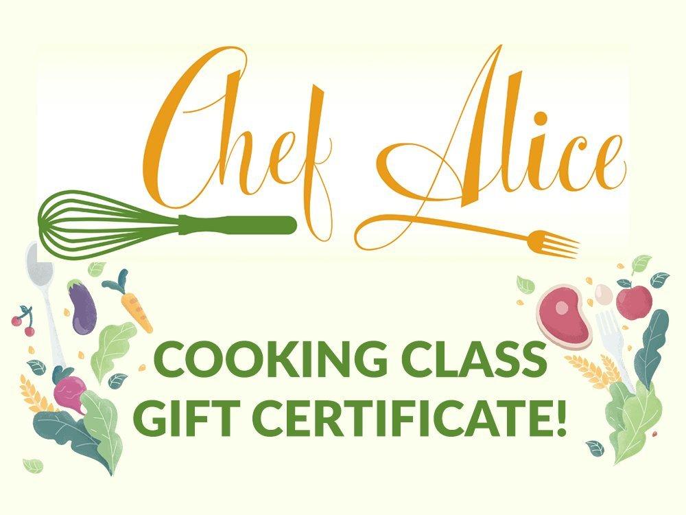 Chef Alice Gift Certificate 1